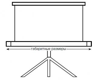 Экран со штативом